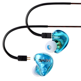 BASN Tempo Deep Bass Earphones with Microphone and Volume Control, Noise Isolating In ear Monitor He