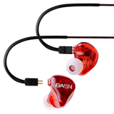 BASN Tempo Deep Bass Earphones with Microphone, Noise Isolating In ear Monitor Headphones(1)